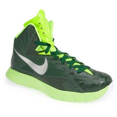 the latest 038f4 c5c46  110.00 Nike  Lunar Hyperquickness  Basketball Shoe (Women) Green  Silver  7.5 M