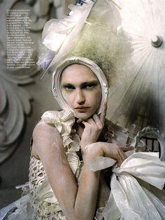 British Vogue - China White - March 2010 - Sasha Pivovarova