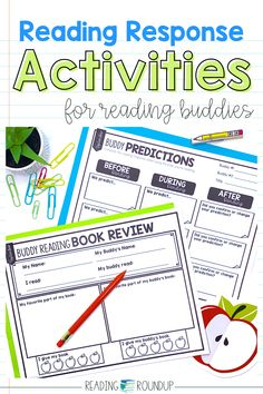 Is your Daily 5 Buddy Reading Center as effective as you'd like for it to be? These digital and printable reading buddies bookmarks are guaranteed to lead to more student engagement. Elementary students can practice decoding unknown words, answering comprehension questions, making connections, and retelling stories with these bookmarks. Reading response sheets are also available for additional accountability during literacy centers. A must-have for your reading workshop! Reading Response Activities, Reading Centers, Reading Workshop, Literacy Centers, Short I Words, E Words, Partner Reading, Student Reading, Daily 5 Centers