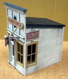 S-Scale - Dioramas - Model Railroad Forums - Freerails Old Western Towns, Escala Ho, Ho Model Trains, Model Training, Model Train Layouts, Le Far West, Miniature Houses, Paper Models, Model Building