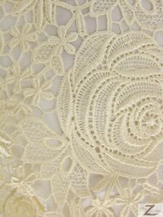 Shop for on Etsy, the place to express your creativity through the buying and selling of handmade and vintage goods. Crochet Leaf Patterns, Crochet Motif, Crochet Flowers, Gold Lace Fabric, Fabric Roses, Irish Crochet Tutorial, Crochet Strawberry, Point Lace, Crochet Books