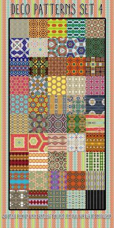 Deco Patterns Set 4 by HGGraphicDesigns on DeviantArt Folk Embroidery, Blog Design, Ps, Free Printables, Photographers, Designers, Scrapbooking, Photoshop, Deviantart