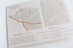 As seen in MARTHA STEWART WEDDINGS.com Custom Wedding Map - Digital File. $90.00, via Etsy.