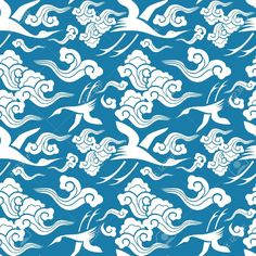 Vector - traditional Japanese seamless patterns with geometric and nature themes