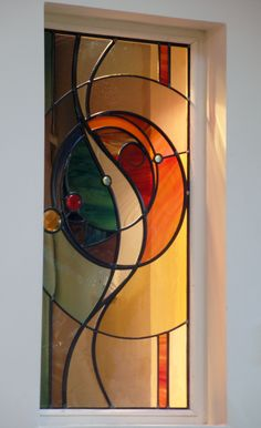 Stained glass portfolio – examples of work by Dave Griffin - Cool Glass Art Designs Stained Glass Door, Stained Glass Designs, Stained Glass Projects, Stained Glass Patterns, Modern Stained Glass Panels, Mosaic Art, Mosaic Glass, Mosaic Mirrors, Jugendstil Design