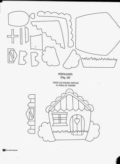Revistas de manualidades Gratis: Manualidades inicia de clases Felt Board Templates, Quiet Book Templates, Quiet Book Patterns, Felt Animal Patterns, Stuffed Animal Patterns, Sewing To Sell, Felt Pictures, Felt Quiet Books, House Quilts