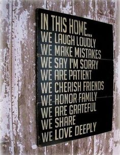 Family Values/Faith on a Wall. Yes.