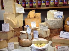 There are regional food specialities…Mellis cheesemonger's in Edinburgh, featuring Auld Lochnagar and Corra Linn, Scotland