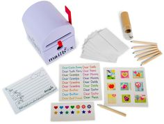 Mailbox and stationary kit for kids