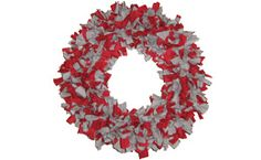 OSE, ohio state rag wreath  I made this for someone for Christmas and put a white O in the middle, they loved it!
