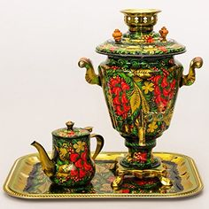 Beautiful russian strawberry samovar that would look great in any kitchen or dining area! #kitchenaccessories #kitchenustensils #strawberries