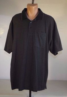 Van Heusen 2XLT Cotton Blend Mens Polo Front Pocket in Dress Shirts | eBay