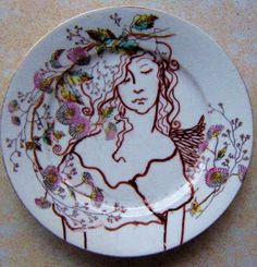 Sharpie Plate #DIY #Drawing #Tutorial Folk Art by C&bell Jane & How to Decorate Dinnerware With Sharpie! | Sharpies Dollar store ...