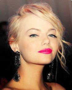 emma stone coral pink lipstick make up beauty mascara lipstick bridal makeup smokey eyes makeup tips concealer makeup tutorial cosmetics lipstick 2015