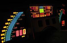 Flash Dance: Digital Dashboards of the - Neatorama Cyberpunk, Chevrolet Corvette C4, Chevy, Digital Dashboard, Car Ui, New Retro Wave, Dashboards, Retro Futurism, Concept Cars