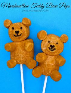 Marshmallow Teddy Bear Pops