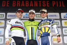 Podium: Philippe Gilbert (BMC), Peter Sagan (Cannondale) and Bjorn Leukemans (Vacansoleil - DCM)