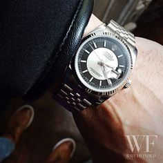 What s black and white and sits beautifully on the wrist   Rolex  Oyster   02075c984aa0