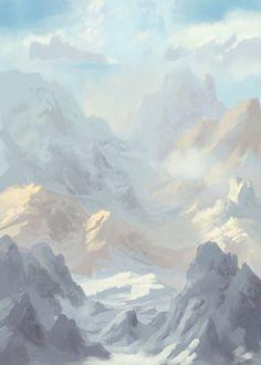 Landscape Sketch, Nathanael M on ArtStation at https://www.artstation.com/artwork/80LeR