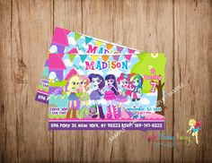 Equestria Girls Birthday Invitation Equestria by CutePartyFairy