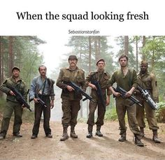 Squad Goals - Howling Commandos | Hate stuff like this as the common modern lingo is appalling, but it is to be true.