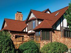 Victorian Red Gaf Designer Roof Shingles Home