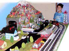 My grandson's O-gauge model train layout