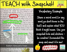 How (and why) to use Snapchat with your middle and high school students to teach vocabulary or any literacy concept ~ in the classroom or in speech and language therapy