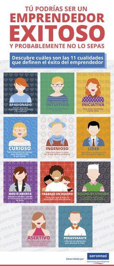 ¿Cuáles son las características que debe tener una persona emprendedora para tener éxito? Algunas son innatas, pero también muchas veces es la actitud lo q