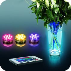 #MultiColor #LED #Light #Party #Lamp #Underwater #Remote #Control