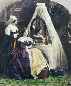 Untitled view, interior of a woman dressing with a maidservant. Stereoview, detail (Probably French) Victorian Women, Victorian Era, Victorian Fashion, Vintage Photographs, Vintage Photos, Victorian Portraits, Civil War Dress, Stunning Women, African American History