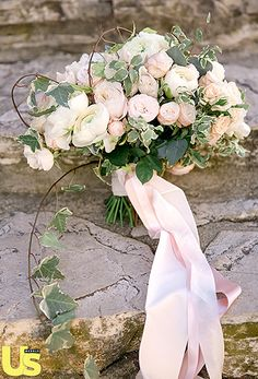 Blooming Bouquet-soft color palette of ivory and soft pinks to match her gowns.   Read more: http://www.usmagazine.com/celebrity-style/pictures/desiree-hartsock-and-chris-siegfrieds-wedding-album-2015221/43580#ixzz3Q9Q8icNw  Follow us: @usweekly on Twitter | usweekly on Facebook