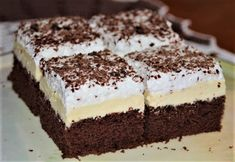 Yummy Mummy, Yummy Food, Czech Recipes, Ethnic Recipes, Dutch Oven Cooking, Aesthetic Food, Chocolate Cake, Cheesecake, Food And Drink
