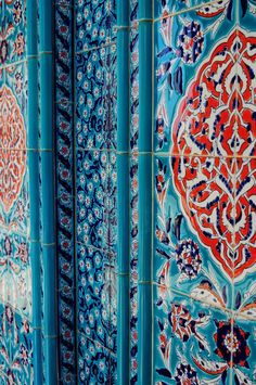 blue and red tile design (mykukula)