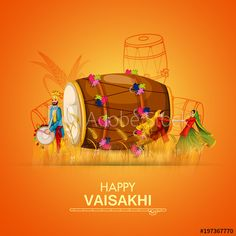 Celebration of Punjabi festival Vaisakhi background - Buy this stock vector and explore similar vectors at Adobe Stock Happy Baisakhi Images, Baisakhi Festival, Happy Lohri Wishes, Indian Festivals, Cute Couples Goals, Wallpaper Iphone Cute, Happy Moments, Best Hotels, Puns