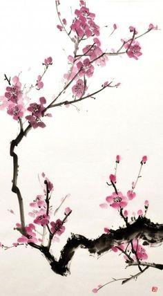 Resultado de imagen de flor de ciruelo
