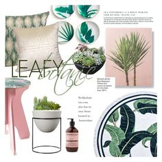 """""""leafy botanic"""" by gentillehome ❤ liked on Polyvore featuring interior, interiors, interior design, home, home decor, interior decorating and Whiteley"""