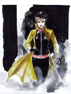 Jubilee by Peter Nguyen Jubilee stays in hiding in the base, as she has never heard of the X-Men and has no idea how they might react to her presence. She steals food and borrows clothes from several of the X-Men to create a makeshift costume for herself. She is attacked by a cybernetic dog, and forced to use her powers in self-defense by blowing up the beast. This is the first time Jubilee learns her powers can do real damage.
