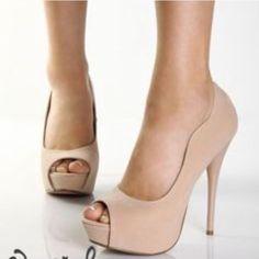 Nude Heels Good condition heels. Shoes Heels