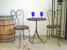 Twisted Ice Cream Parlor Chairs & Table Set  by OldMillVintage, $299.98