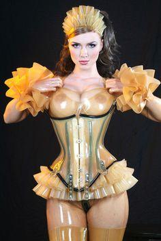 Trans-latex maid look modelled by Ancilla Tilia @Neville Unvalla Unvalla Unvalla cilla