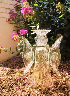I really like angels.   garden glass angel sculpture by Adelicatetouch1,
