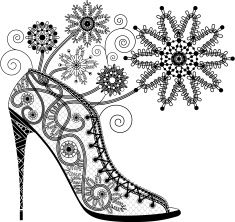 high heel shoe coloring page