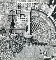 RNDRD is a partial index of architectural drawings and models scanned from design publications throughout the century. Architecture Graphics, Urban Architecture, Timeline Architecture, Timeline Diagram, Aldo Rossi, Section Drawing, Project Presentation, Arch Model, History Timeline
