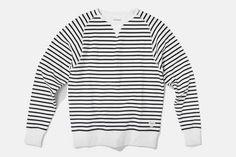 Simon Sweatshirt, Stripe #saturdaysnyc #sweatshirt #sweats #striped #men