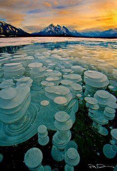 Frozen Abraham Lake, Alberta Canada