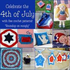 4th of July Crochet – Celebrate Freedom with Free Patterns! Thanks for sharing! ¯\_(ツ)_/¯ ☀CQ #crochet