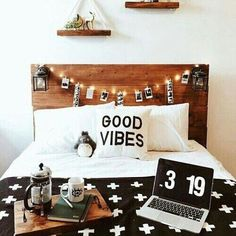 Teen Girl Bedroom Makeover Ideas | Fairy Lights, Wood Furniture and Decor #GoodVibes