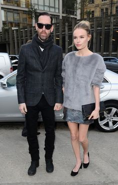 Kate Bosworth is so stunning I cannot get over it. She wears fur (as it appears) textured coat over shift (as it appears) dress. Both textures contrast and compliment eachother as so he hues. Ofcourse her gorgeous face completes the look.