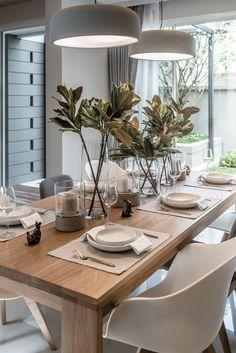 20 Rustic Dining Room Design Ideas For Special Dinner Interior, Dining Room Lighting, Minimalist Dining Room, Living Room Decor, Dinner Room, Home Decor, House Interior, Dining Room Table, Rustic Dining Room
